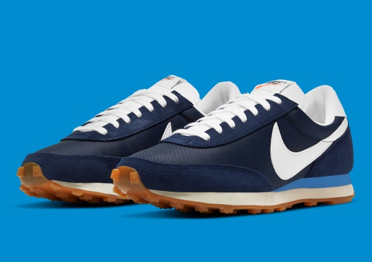 This Nike Daybreak Channels The Past With Retro-Friendly Navy, Red, And Gum