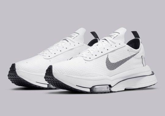 White Nylon Covers This Tech-Friendly Nike Zoom Type