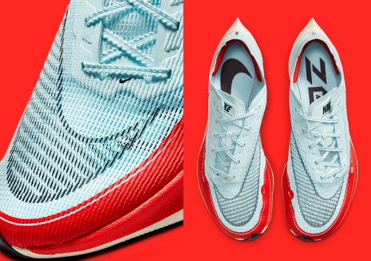 "Nike Revisits An ""Ice Blue/University Red"" Colorway On The VaporFly NEXT% 2"