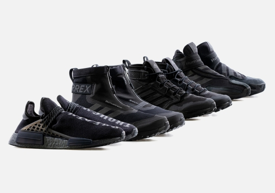 Pharrell's Next All-Black adidas Hu Collection Includes An NMD And Hikers
