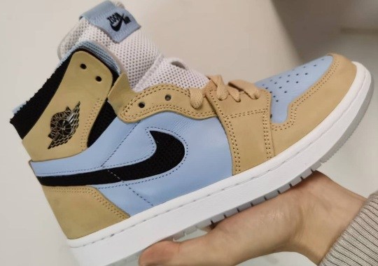 A New Air Jordan 1 Zoom CMFT Emerges With Straw And Light Blue Uppers