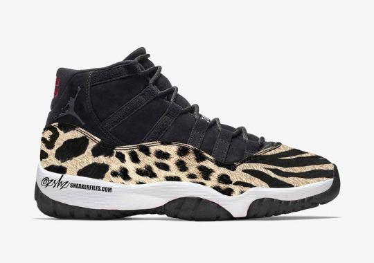This WMNS Air Jordan 11 Combines Cheetah, Leopard, And Tiger Prints