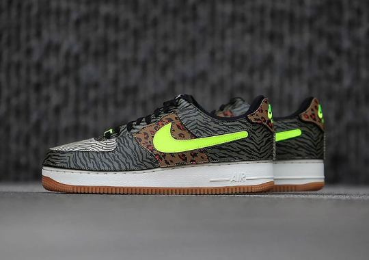 """The Nike Air Force 1/1 Adds An """"Animal Instinct"""" To Its Removable Panels"""