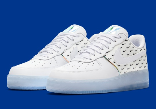 This Nike Air Force 1 Covered In Mini Swooshes Is Available Now