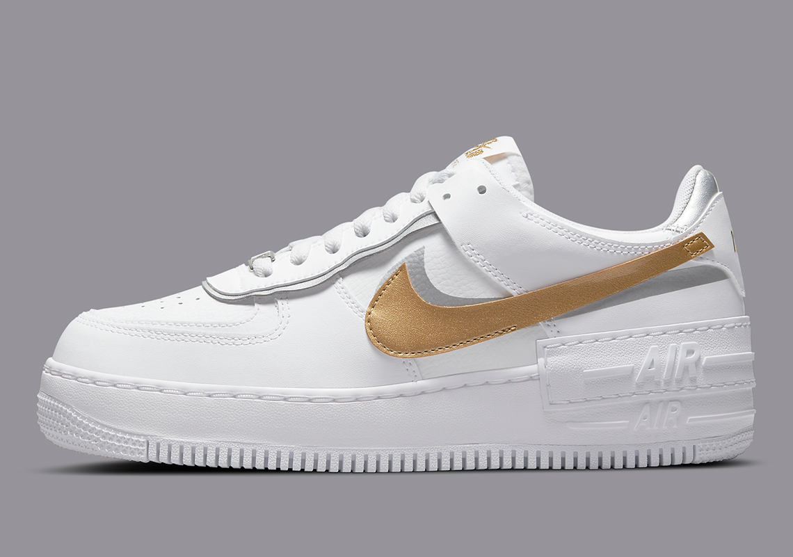 Nike Air Force 1 Shadow Or Argent DM3064-100 - Crumpe