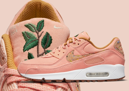 "The Plant-Based Nike Air Max 90 ""Cork"" Revealed In Pink Canvas"