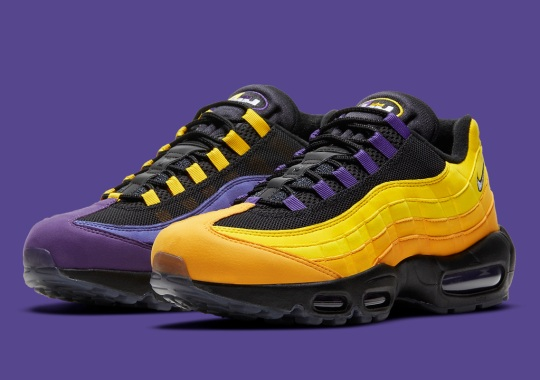 """Official Images Of LeBron James' Nike Air Max 95 """"Home Team"""""""