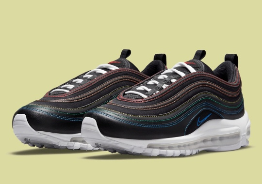 Rainbow Constrast Stitching Appears On The Nike Air Max 97