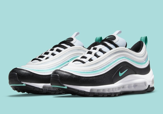 The Nike Air Max 97 Adds A Touch Of Tiffany Blue To This Kids Colorway