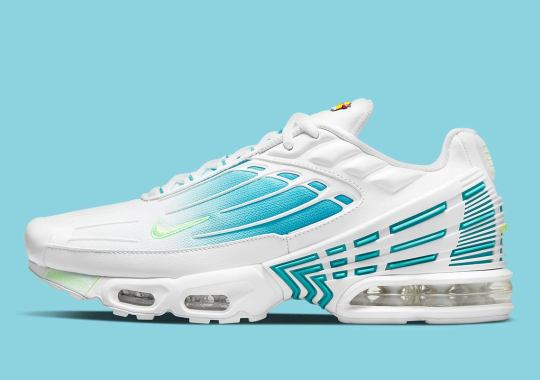 The Nike Air Max Plus 3 Returns In A Frosty Aqua Blue Colorway