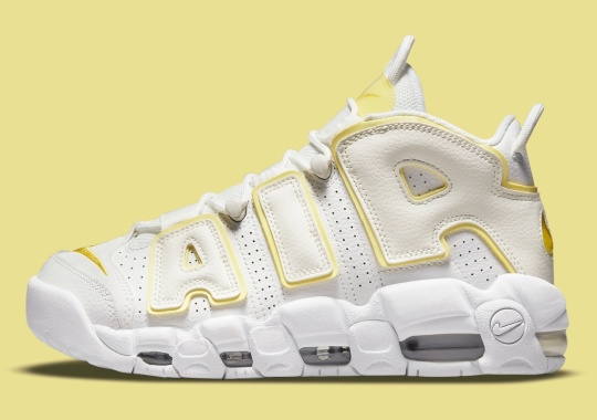 "Spring-ready ""Light Citron"" Lands On The Nike Air More Uptempo"