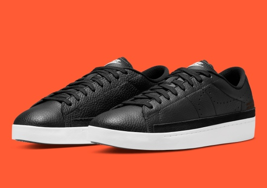"""The Nike Blazer Low With Tennis Classic DNA Appears In Sleek """"Black"""""""