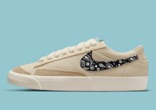 Paisley Swooshes Are Also Dressing The Nike Blazer Low