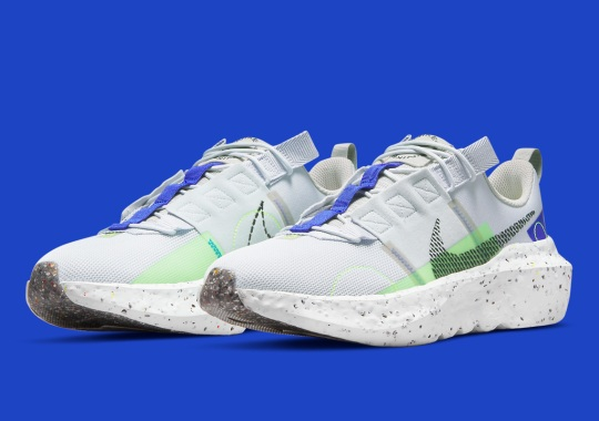 """The Nike Crater Impact Appears With Faint """"Scream Green"""" Accents"""