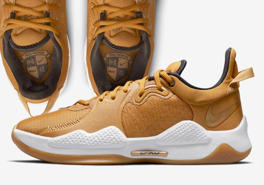 "Paul George's Nike PG 5 Goes ""Beige"" And ""Gold"" For Its Latest Look"