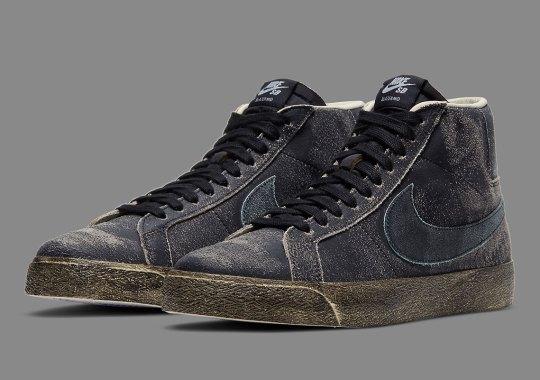 Nike SB Blazer Mid Premium Sees A Faded Black Upper