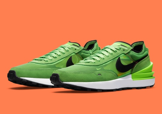 """The Newly-Revealed Nike Waffle One Appears In """"Electric Green"""""""