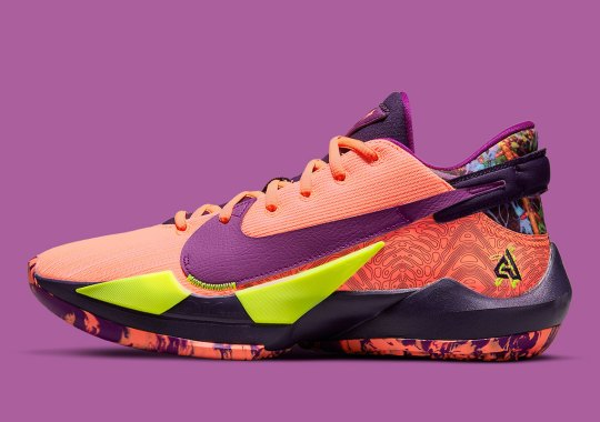 "The Nike Zoom Freak 2 Hits The Court In New ""Bright Mango"" Colorway"
