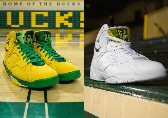 The Oregon Ducks Better Reveal Their Women's And Men's Air Jordan 7 PEs