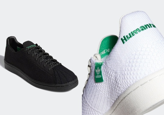 Pharrell's Next adidas Superstar Primeknit Duo Keeps It Simple In White And Black