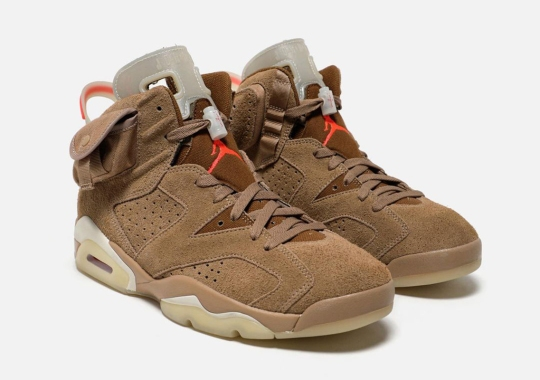 "Travis Scott Helps Celebrate The Air Jordan 6's 30th Anniversary With ""British Khaki"" Colorway"