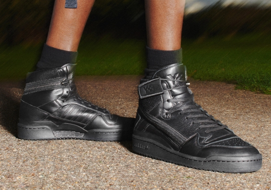 adidas Y-3 Elevates The Forum Hi With Wrap-Around Zips And Triple Black Coloring