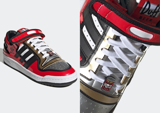 Duff Beer Cans Appear On The Forum Low in The Simpsons x adidas Collection