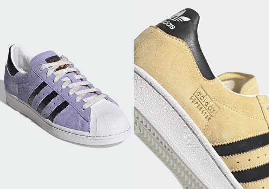 The adidas Superstar Offers Up A Pair Of Pastels For Laker Fans