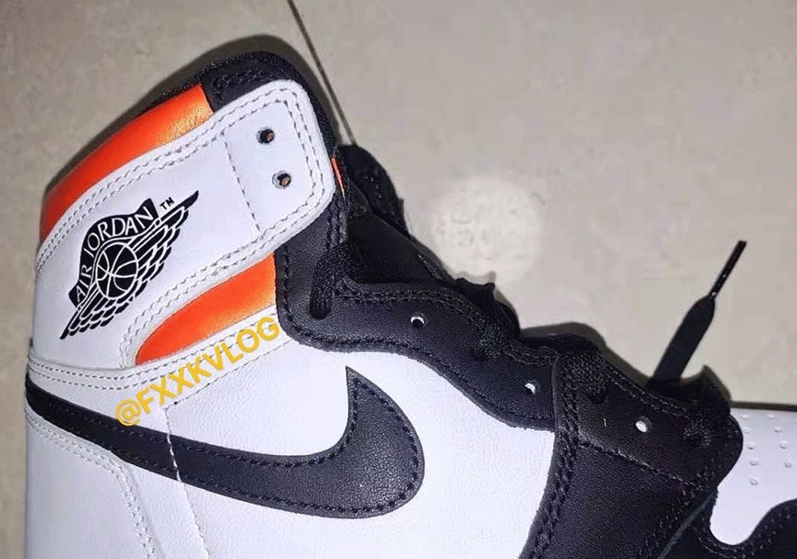 "A First Peek At The Air Jordan 1 Retro High OG ""Electro Orange"""