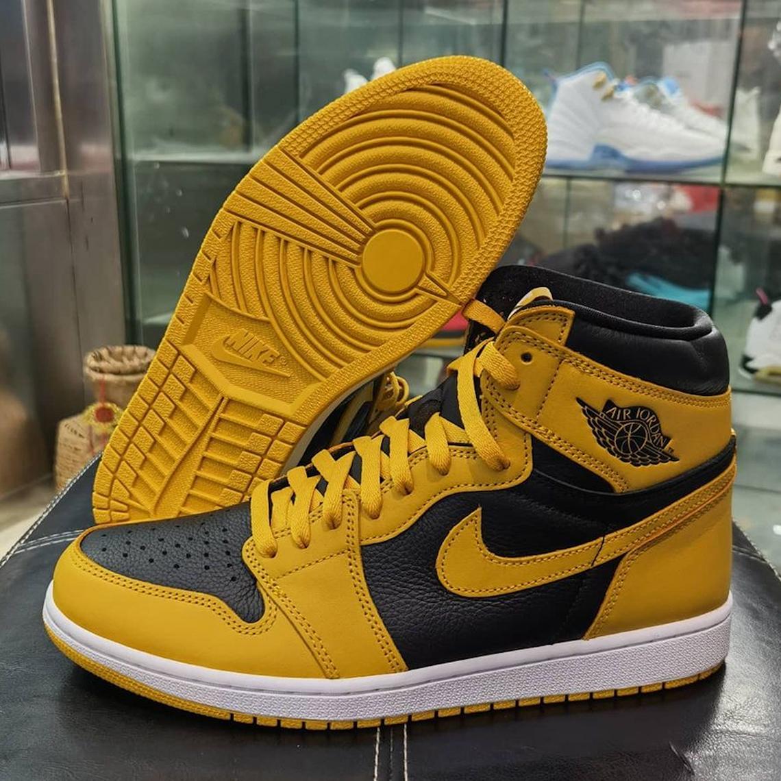 air jordan 1 retro high og jaune