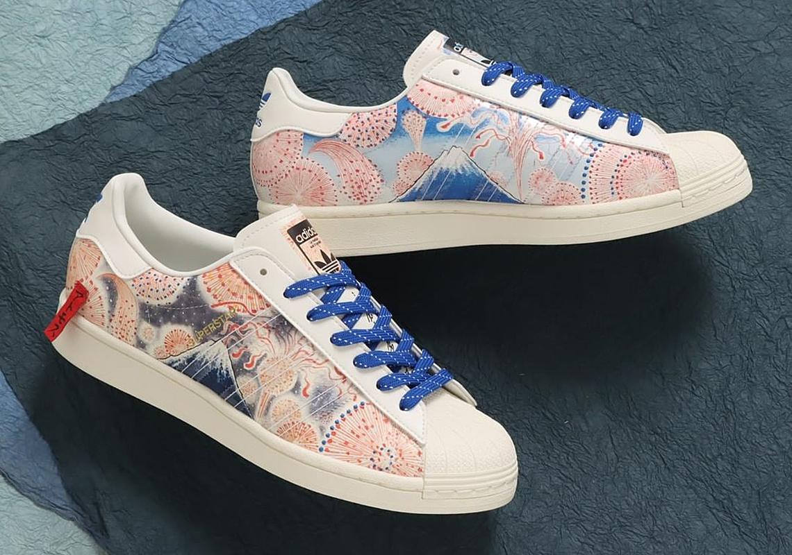 atmos adidas Superstar Mt. Fuji GX7791 Release Date   SneakerNews.com