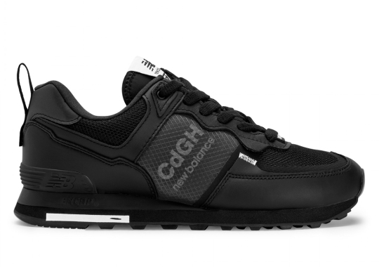 COMME des GARÇONS HOMME's New Balance MI574 Replaces The Classic N With A Transparent Synthetic Window