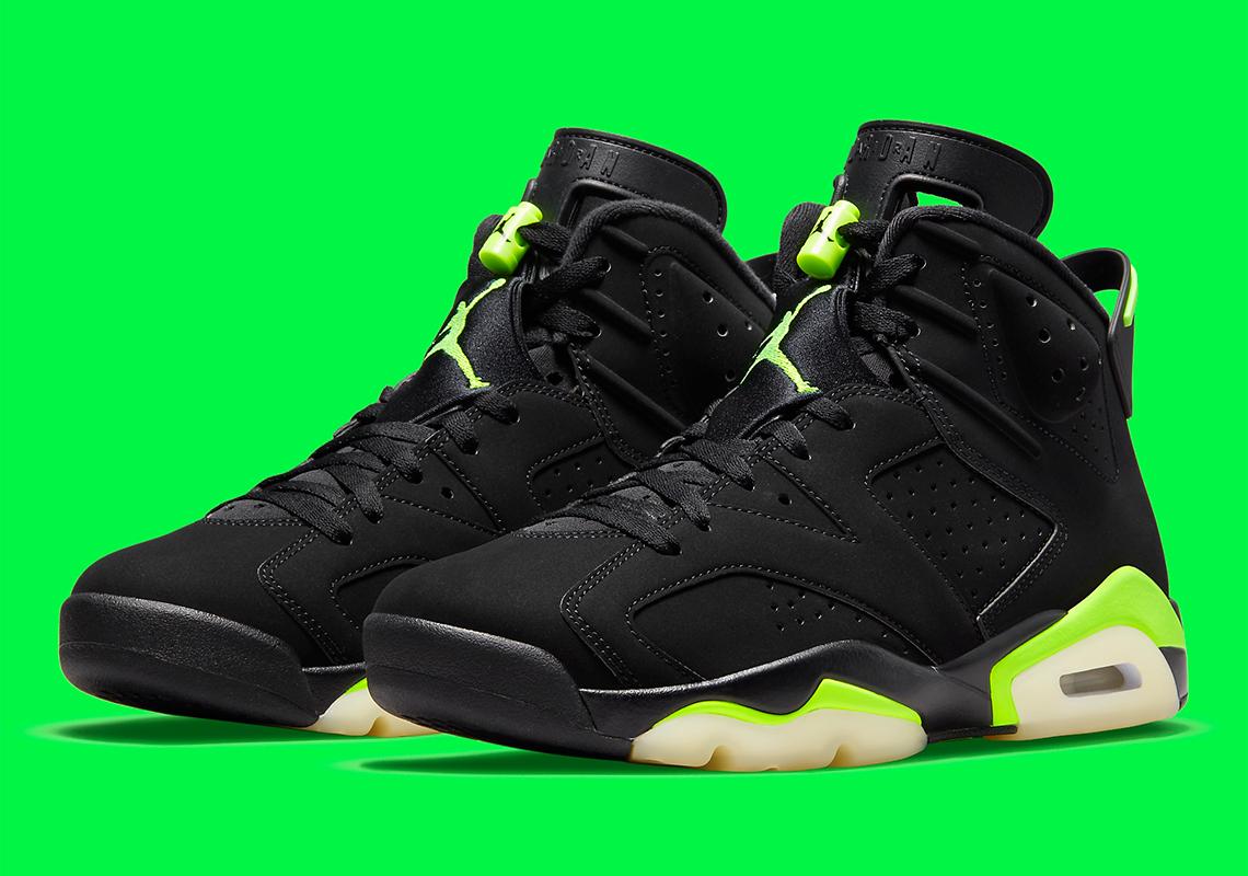 Air Jordan 6 Electric Green Black CT8529-003 Retro | SneakerNews.com