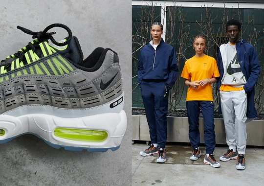 "The Kim Jones x Nike Air Max 95 Releases In ""Volt"" And ""Total Orange"" On March 19th"