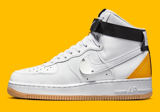The NBA x Nike Air Force 1 High Returns With University Gold Accents