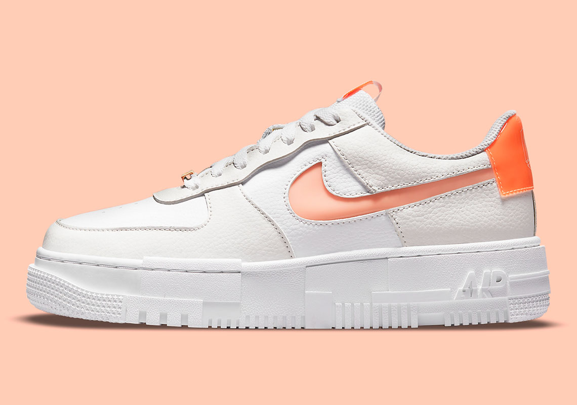 Nike Air Force 1 Pixel White Orange DM3036-100   SneakerNews.com