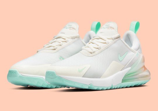 Nike Expresses A Floridian Summer With The white and gold flame nike shox women gravity Golf Shoe
