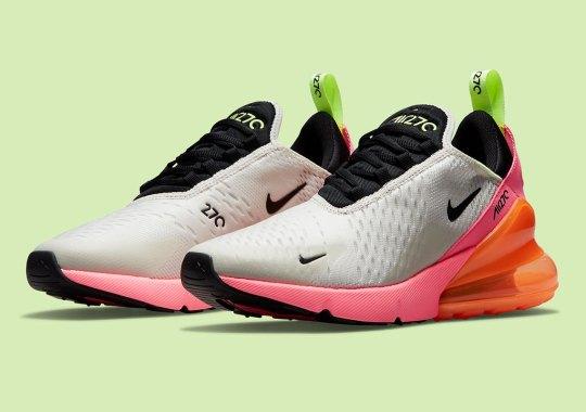 nike air max 270 grey pink orange DJ5997 100 8