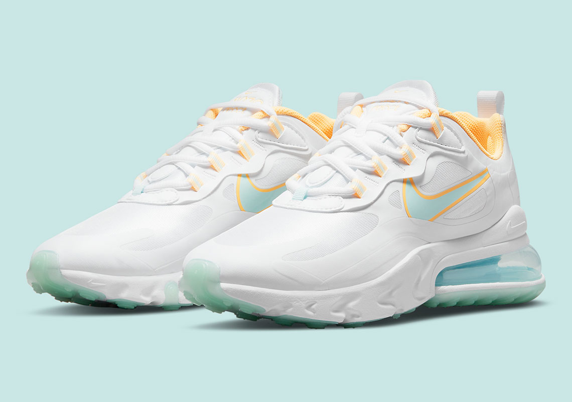The Nike Air Max 270 React Adds Subtle Spring Flair With Melon Tint And Lagoon Pulse