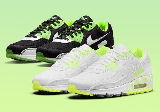 """The Nike Air Max 90 """"Exeter Edition"""" Arriving In Adult Sizes With Individual White And Black Pairs"""