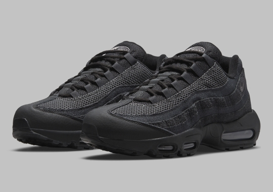 The Nike Air Max 95 Offers A Stealthy Black And Dark Smoke Grey Colorway