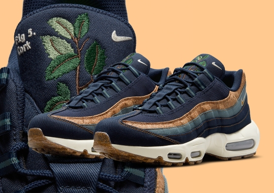 "The Nike Air Max 95 ""Cork"" Offered Up In Navy"