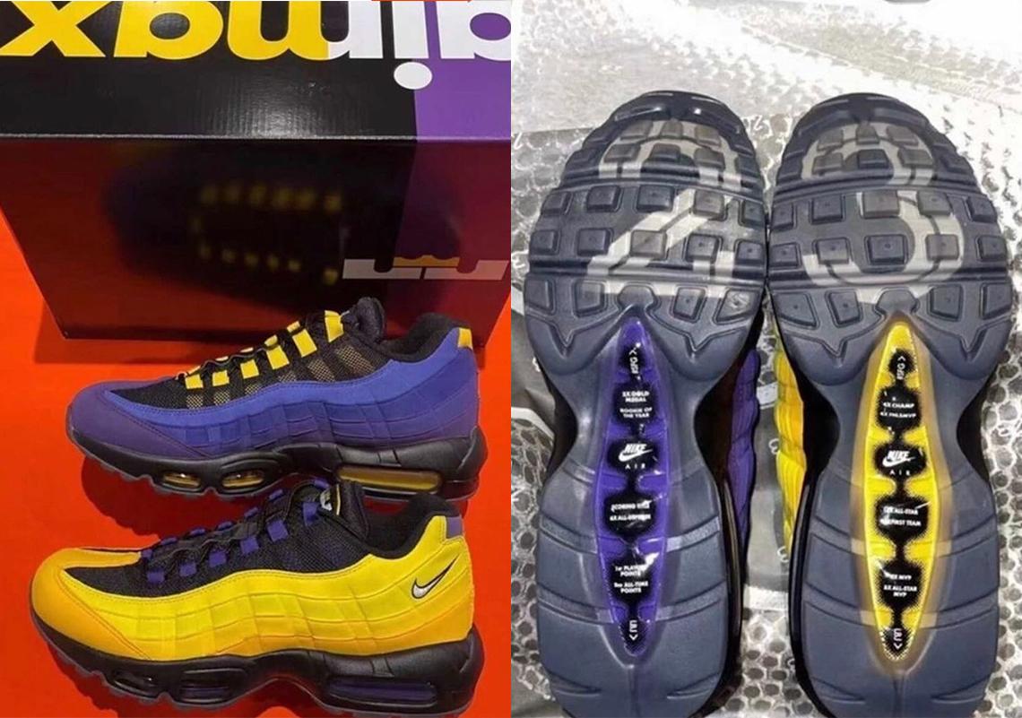 LeBron James Nike Air Max 95 Lakers CZ3624-001 | SneakerNews.com