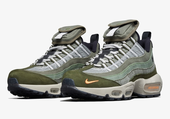 """Nike Air Max 95 """"Surplus Supply"""" Adds Cargo Stow Pocket On Tongues"""