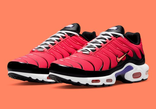 Bright Crimson And Purple Pack In On The Nike Air Max Plus
