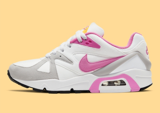 "The Nike Air Structure Triax 91 Combines ""Red Violet"" And ""Citrus"" For This Women's Exclusive Colorway"