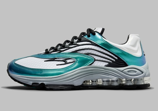 """The Nike Air Tuned Max Gets A Shiny """"Aquamarine"""" Colorway"""