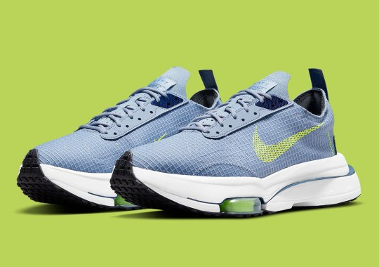 The Nike Zoom Type Covers Itself In Blue Nylon Exteriors