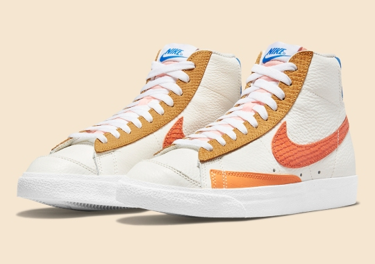 Nike Fattens The Campfire Orange Snakeskin Pack With The Blazer Mid '77