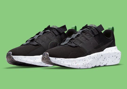 The Nike Crater Impact Sees A Sharp Black Colorway With Green Accents